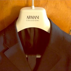 Georgio Armani Black suit and black tie